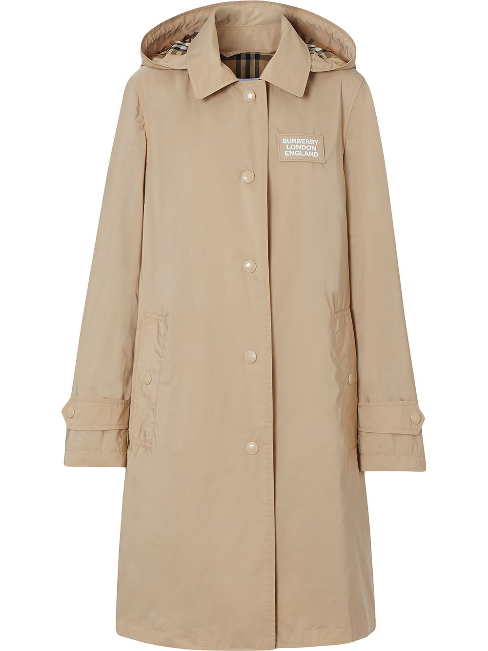 Picture of Burberry | Logo Patch Parka Coat
