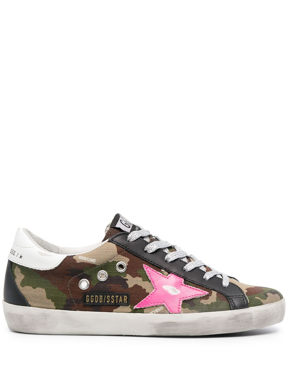 Picture of Golden Goose Deluxe Brand | Super-Star Camouflage Sneakers