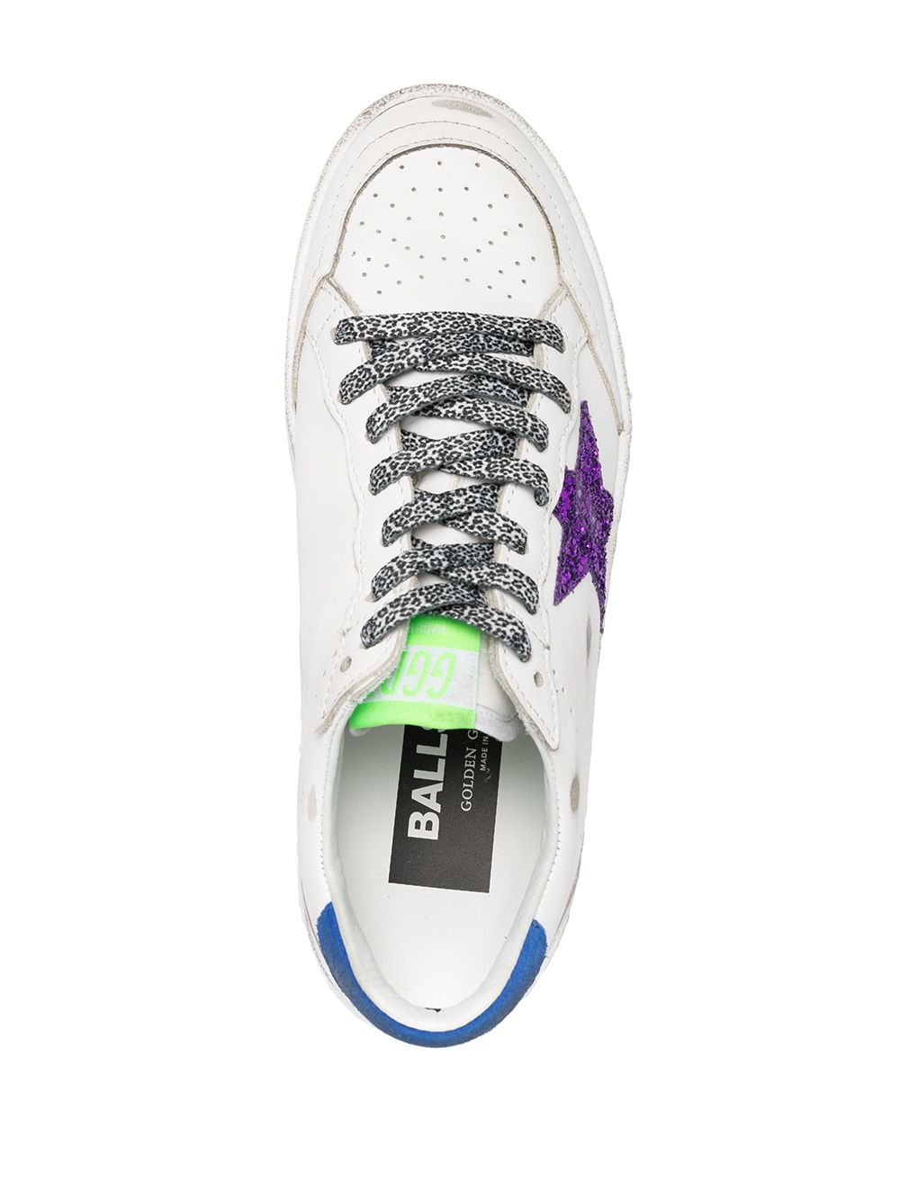 Picture of Golden Goose Deluxe Brand | Glitter-Detail Lace-Up Trainers