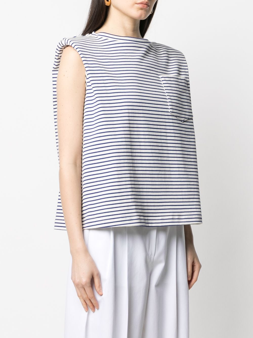 Picture of Jejia | Striped Shoulder-Pad Tank Top