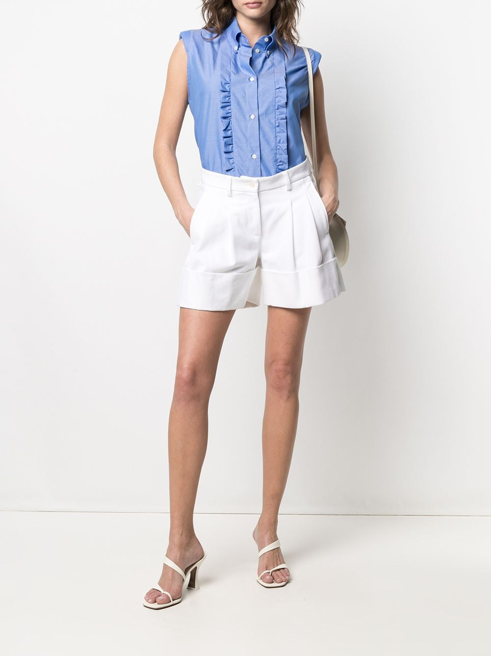 Picture of Jejia | Ruffle Trim Sleeveless Shirt