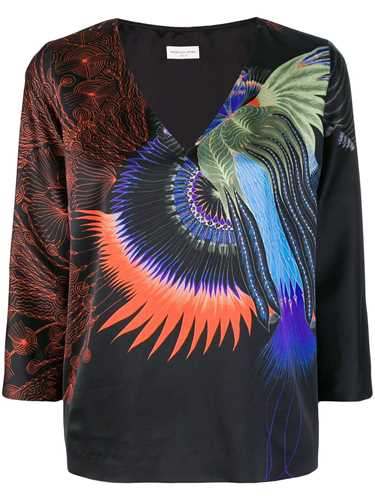 Picture of Dries Van Noten | Printed CrÊPe Top