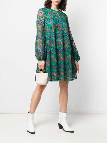 Picture of Giamba | Floral Embroidered Shift Dress