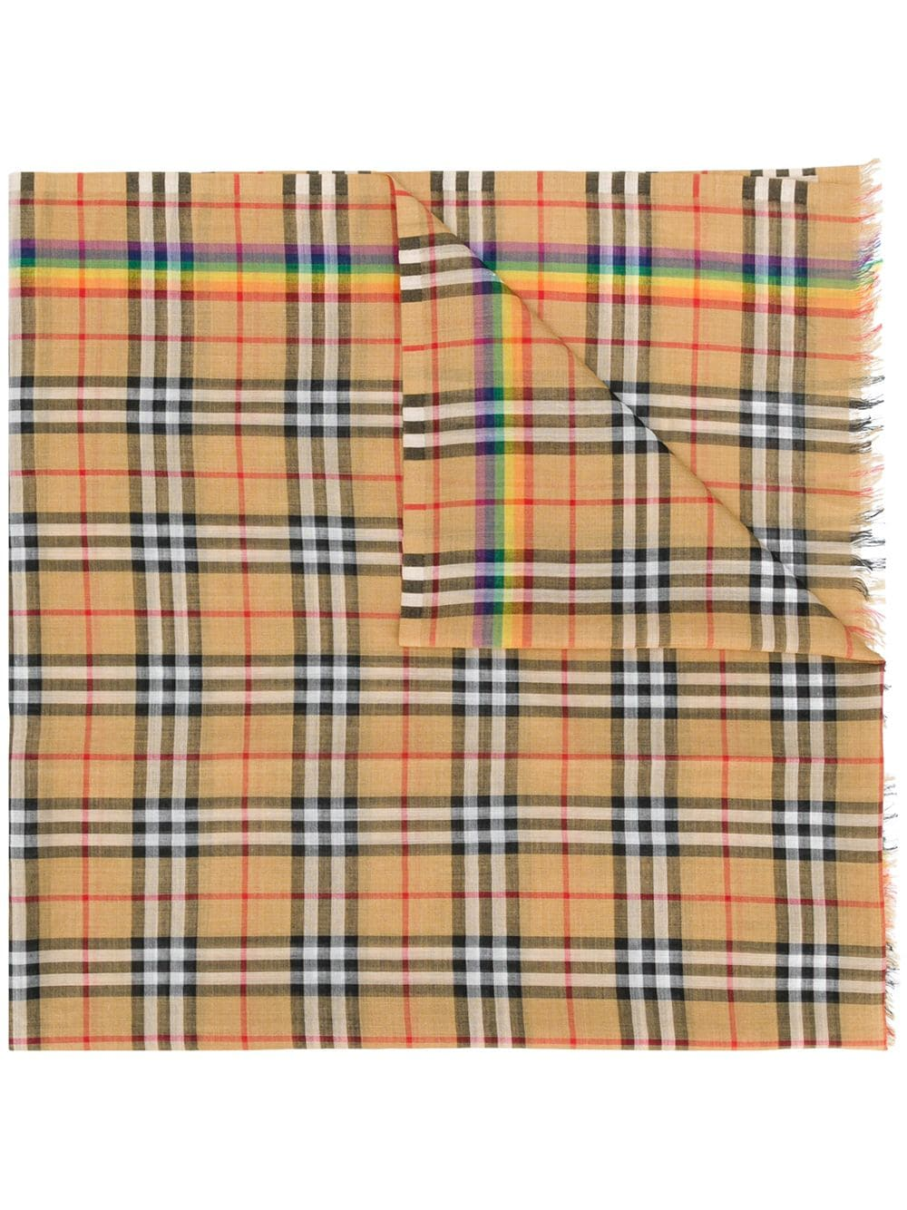 Picture of Burberry | Rainbow Vintage Check Wool Silk Scarf