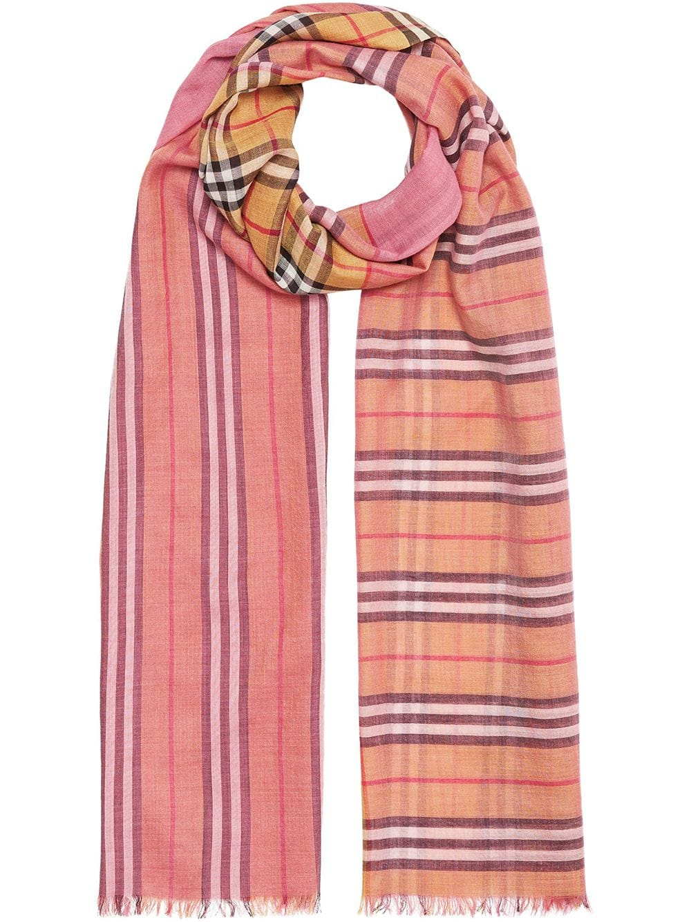 Picture of Burberry | Vintage Check Colour Block Scarf