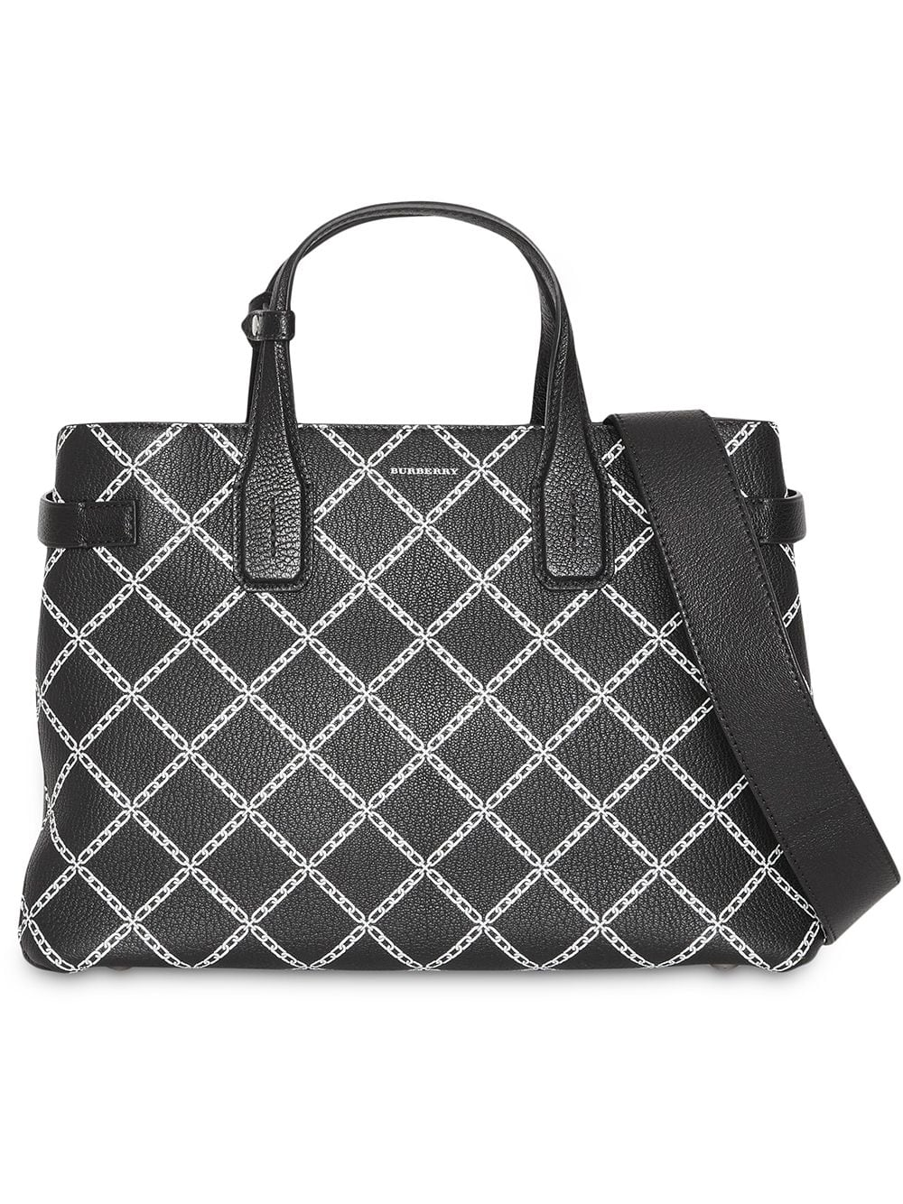 Picture of Burberry | The Medium Banner In Link Print Leather
