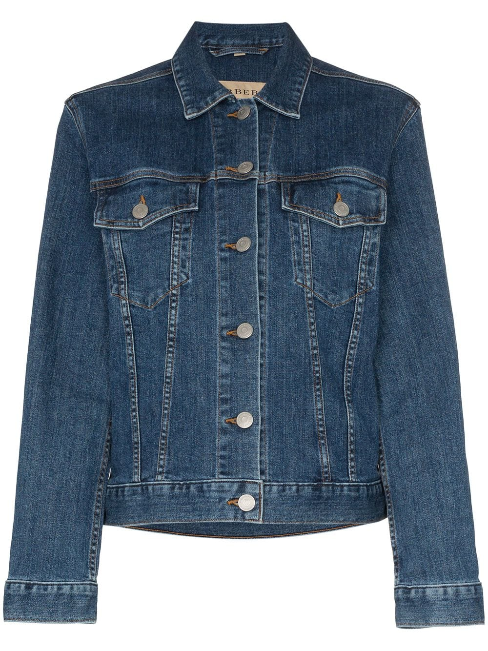 Picture of Burberry | Embroidered Denim Jacket