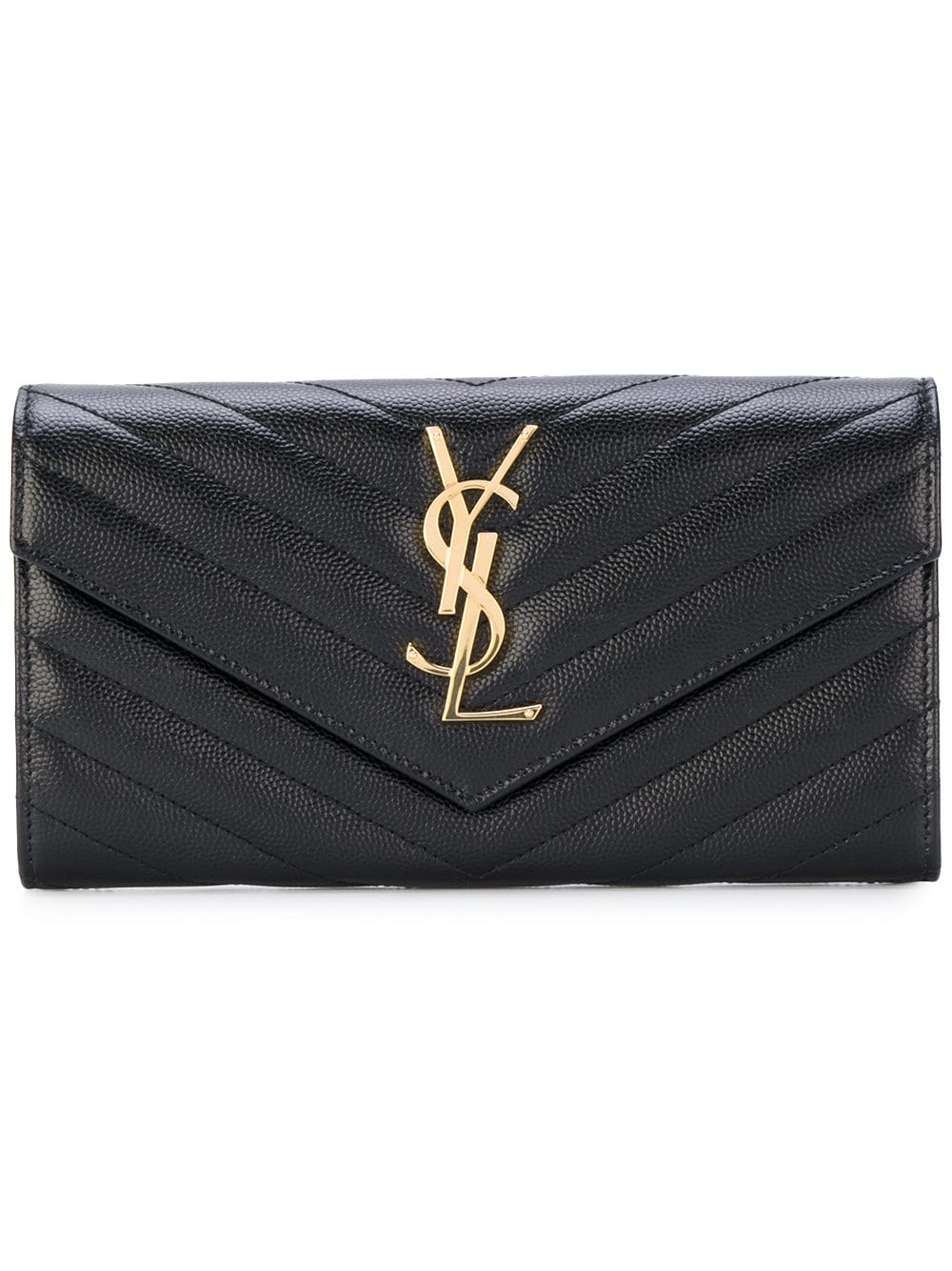 Picture of Saint Laurent | Monogram Flap Wallet
