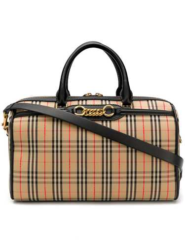 Picture of Burberry | The Medium Check Link Bowling Bag