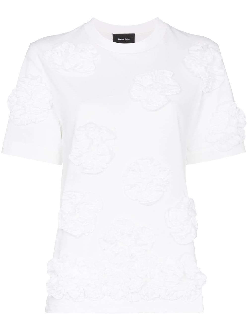 Picture of Simone Rocha | Floral Appliqué T-Shirt
