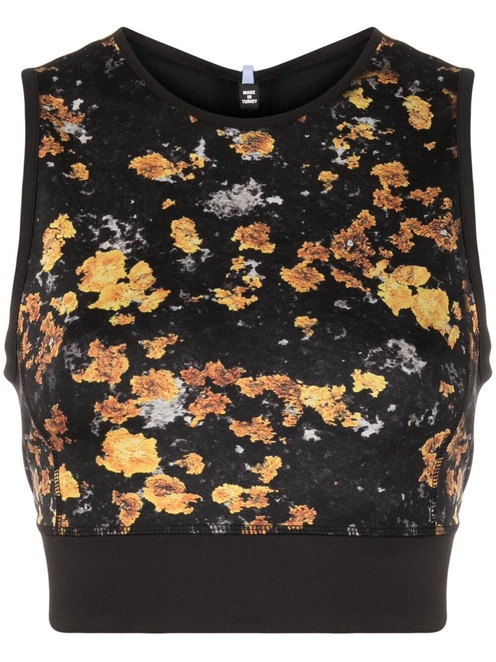 Picture of Mcq | Abstract-Print Cropped Vest