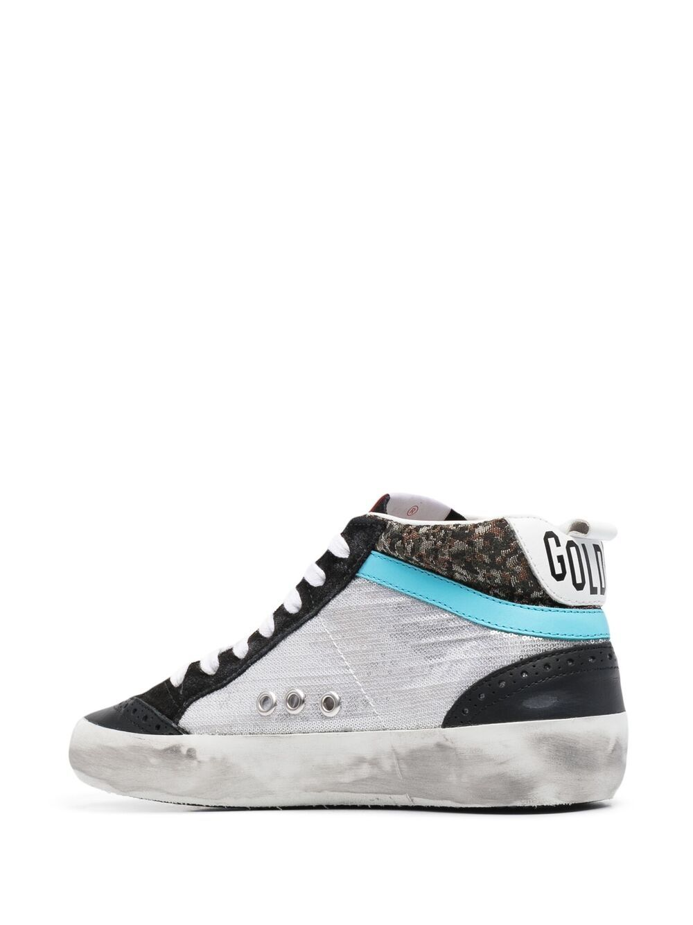 Picture of Golden Goose Deluxe Brand | Mid Star High-Top Sneakers