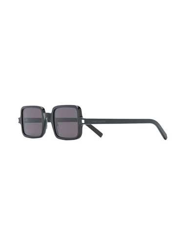 Picture of Saint Laurent | Rectangular Tortoiseshell-Effect Sunglasses
