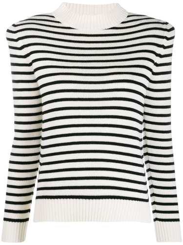 Picture of Saint Laurent | Structured Striped Jumper