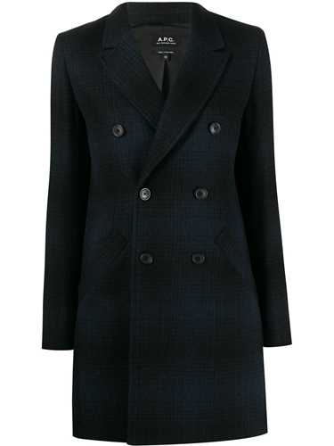 Picture of A.P.C.   Checked Long Line Blazer