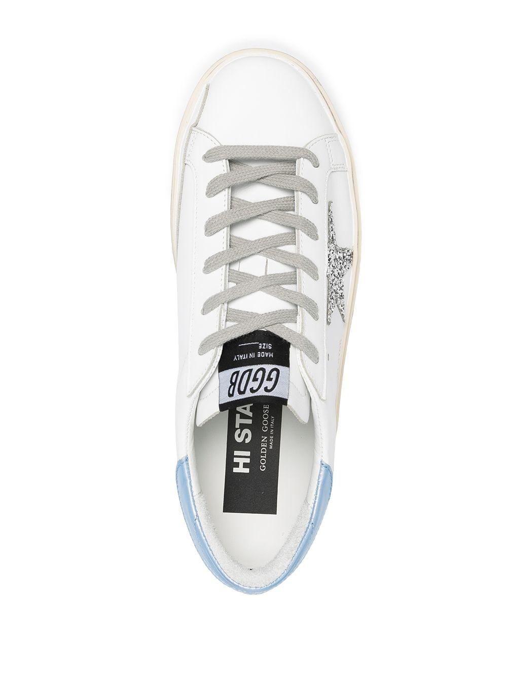 Picture of Golden Goose Deluxe Brand   Hi Star Platform Sneakers
