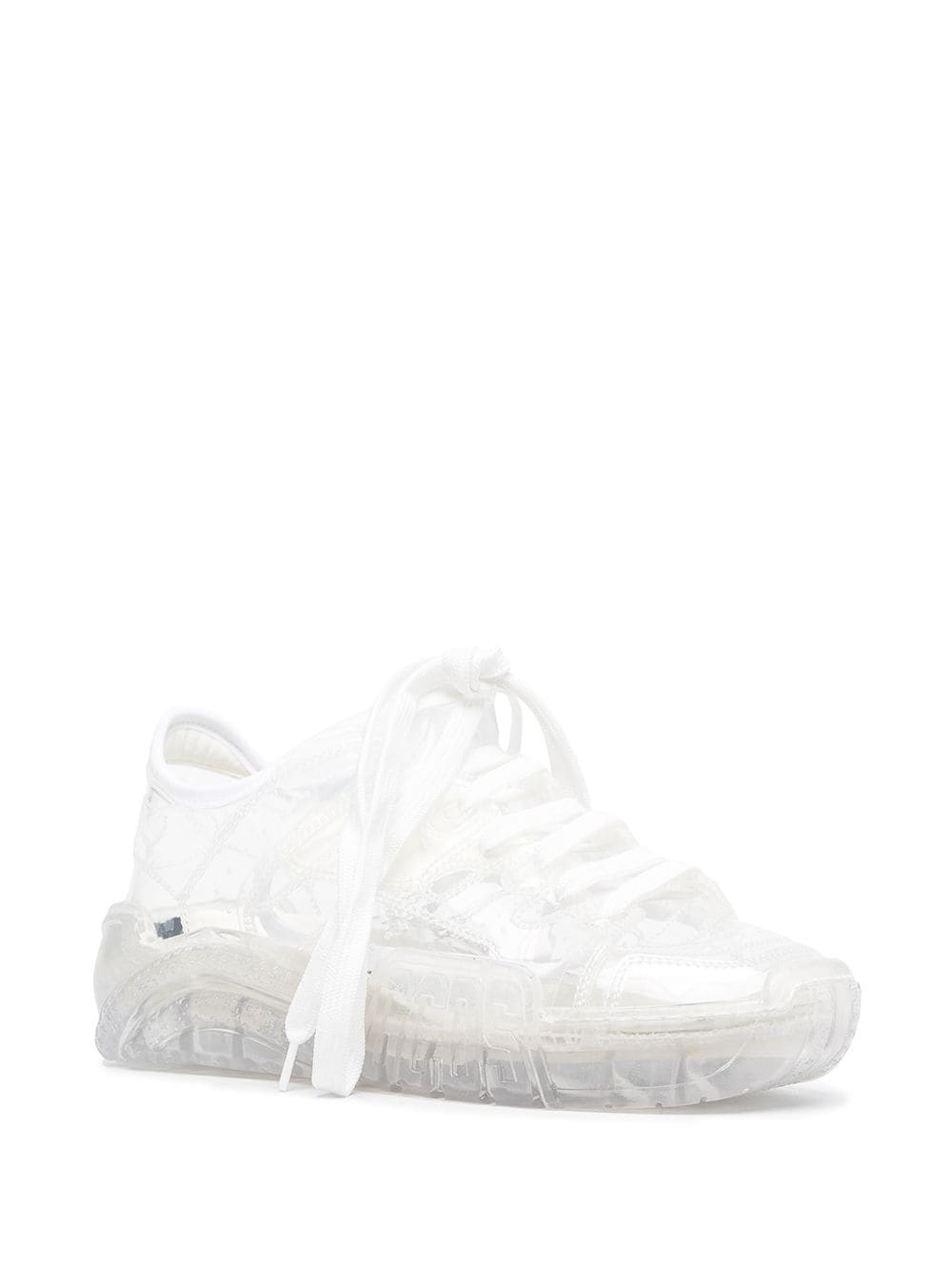 Picture of Gcds | Varnished Lace-Up Sneakers