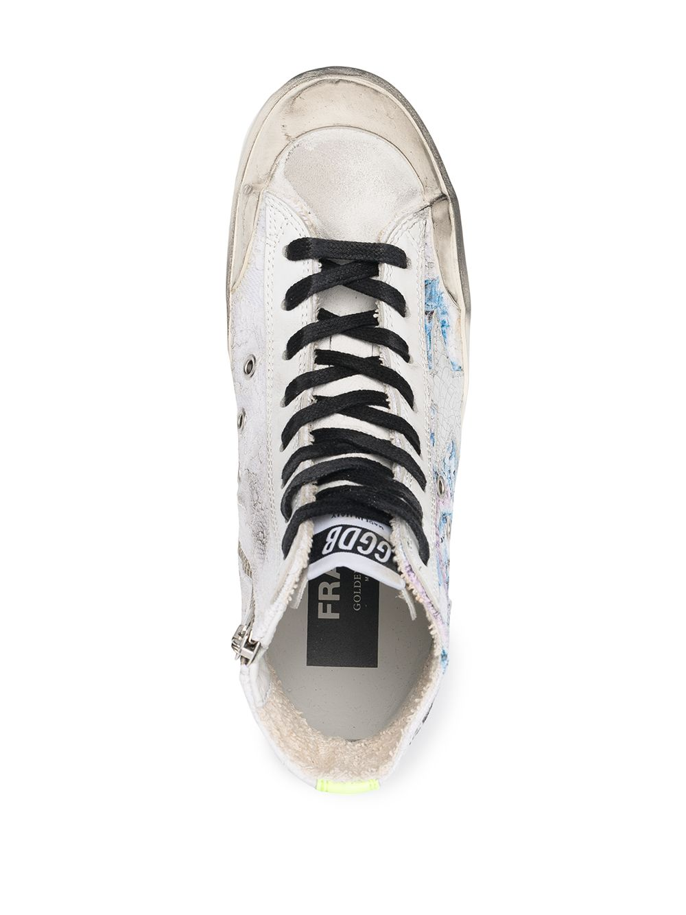 Picture of Golden Goose Deluxe Brand | Graphic-Print Distressed-Effect Sneakers