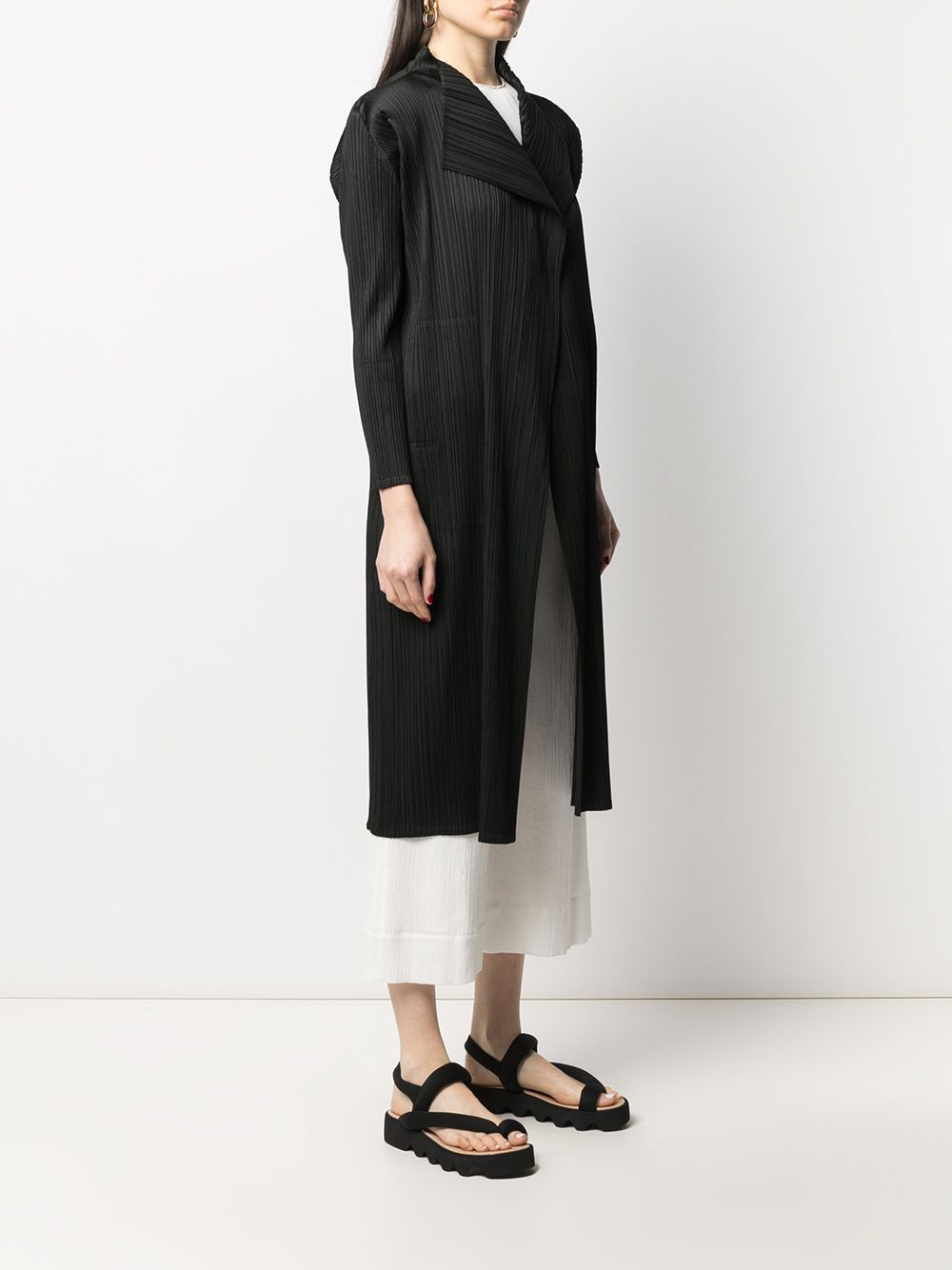 Picture of Issey Miyake Pleats Please | Plissé Long Coat