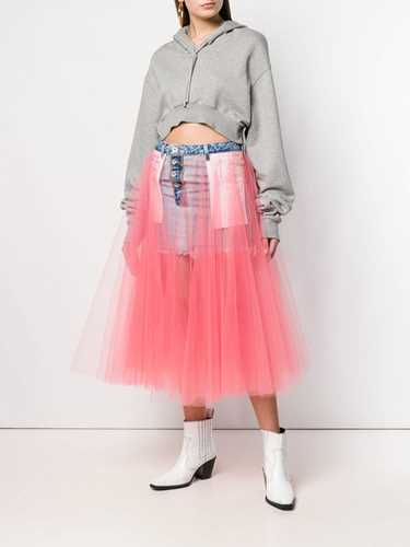 Picture of Unravel Project | Tulle Detail Denim Skirt