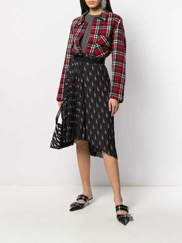 Picture of Balenciaga | Paris Print Pleated Skirt