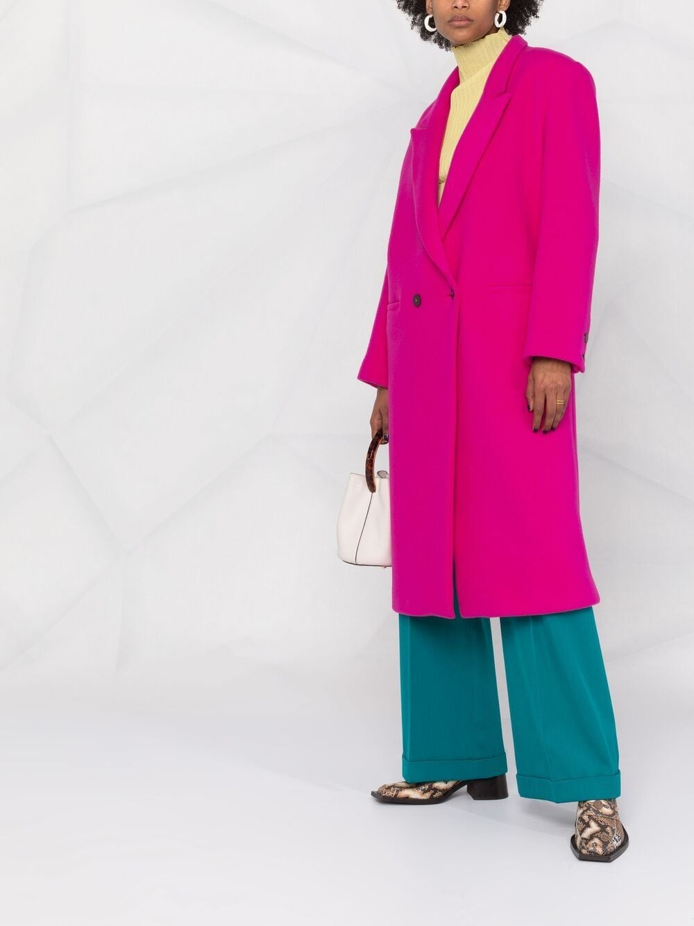 Picture of Forte_Forte   Double-Breasted Virgin-Wool Coat