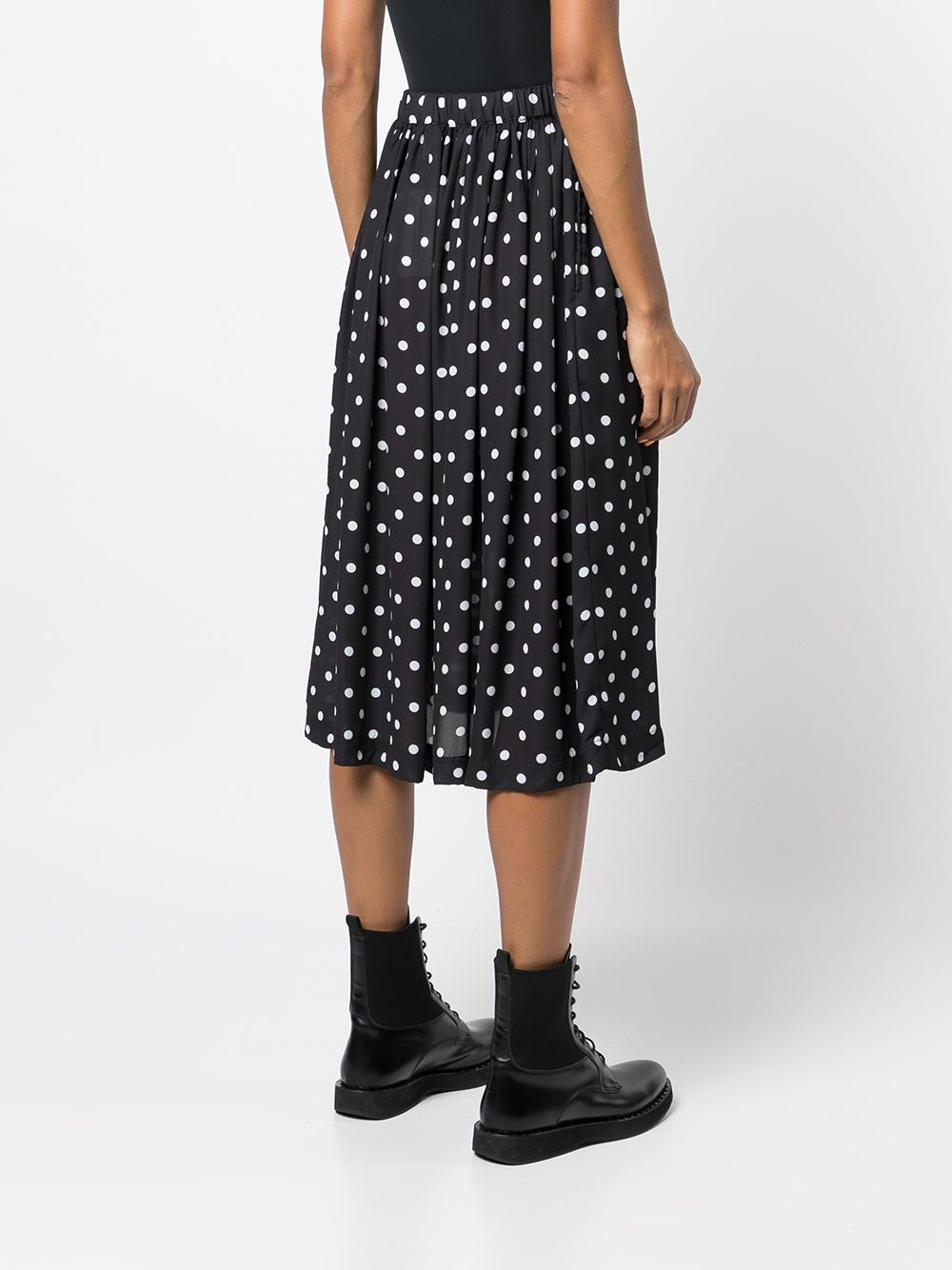 Picture of Comme Comme | Polka Dot-Print Midi Skirt