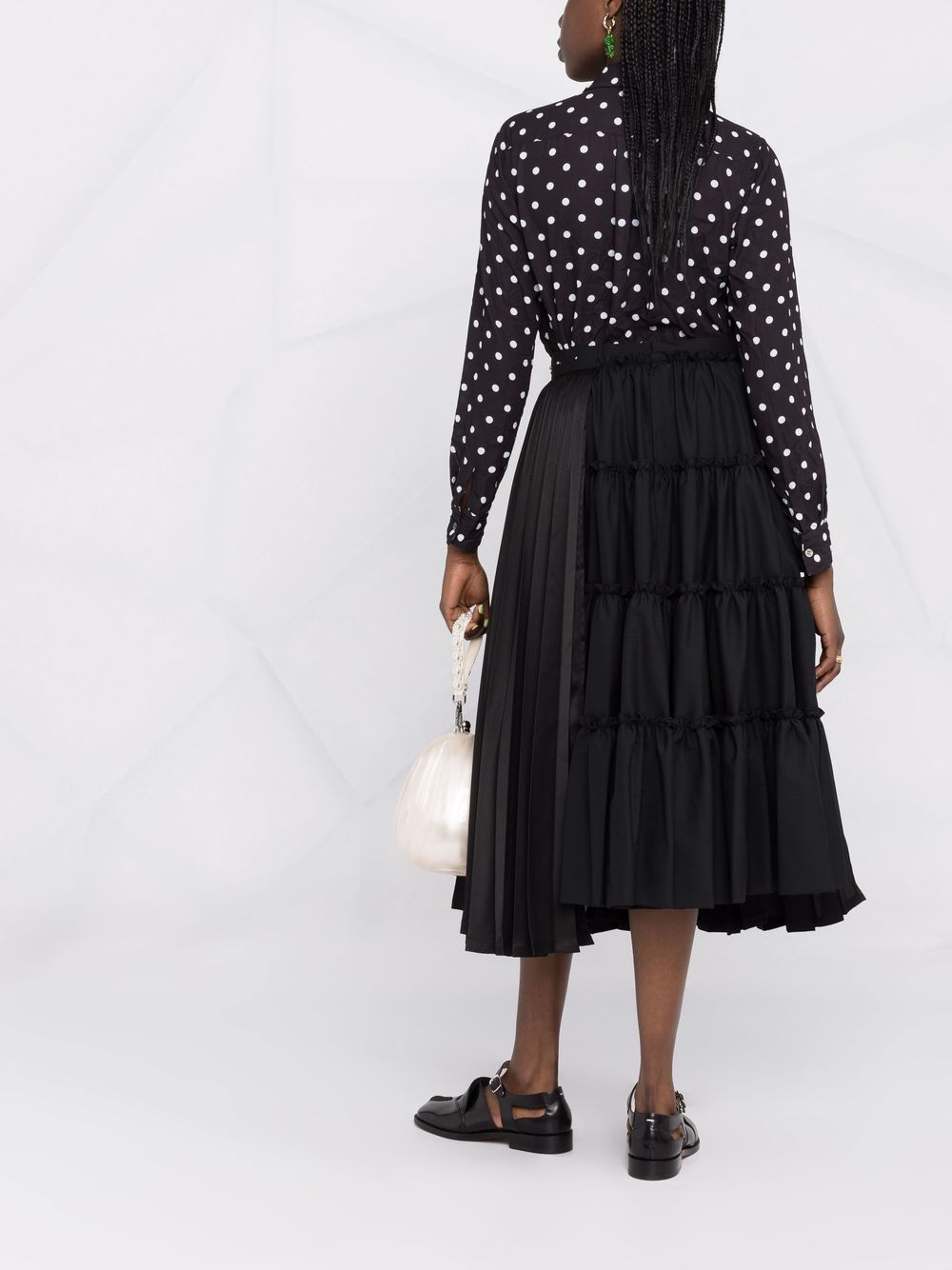 Picture of Comme Comme | Polka-Dot Ruched Shirt