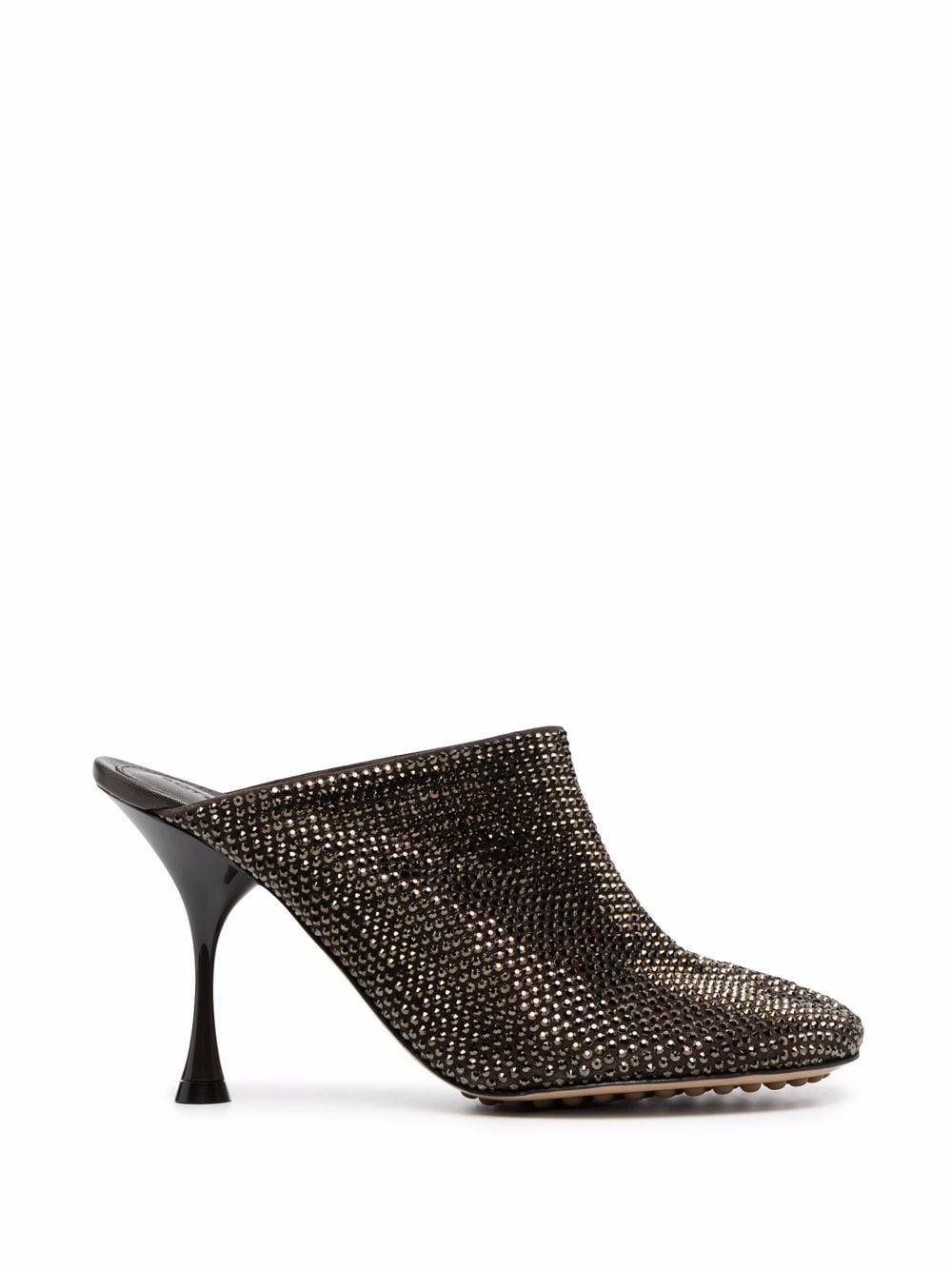 Picture of Bottega Veneta | Dot Sock 90Mm Embellished Mules