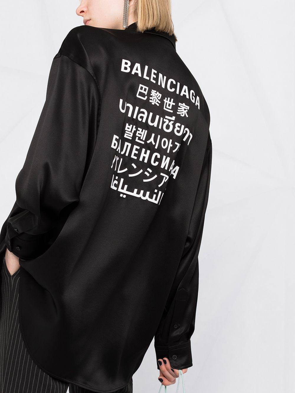 Picture of Balenciaga | Printed Blouse