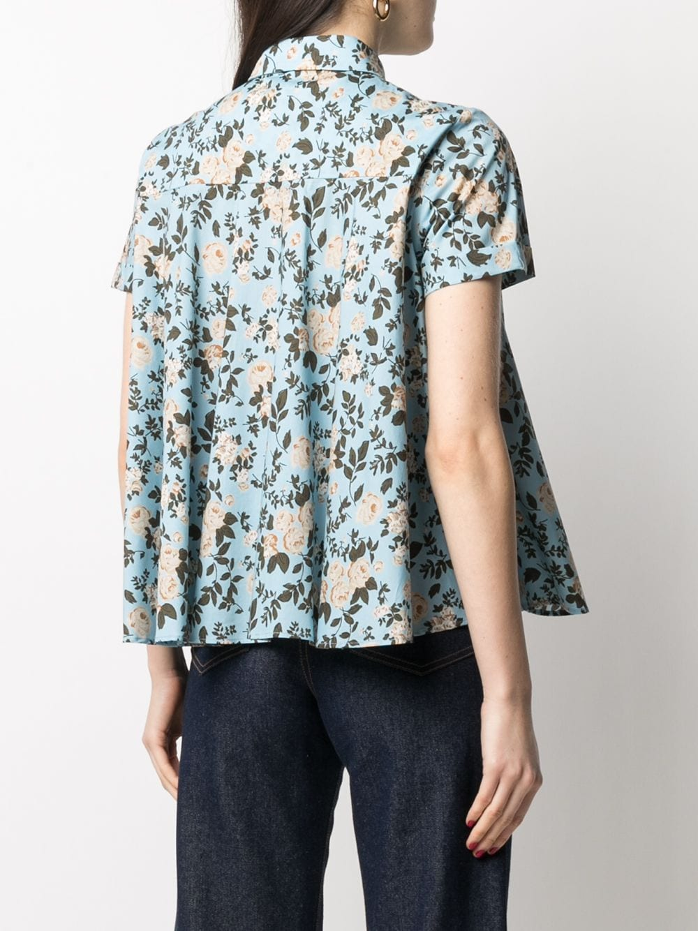 Picture of Semicouture | Floral-Print Shortsleeved Shirt