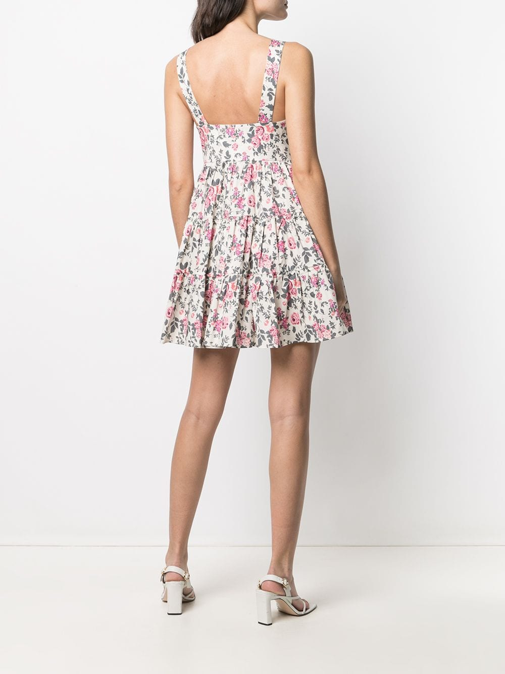 Picture of Semicouture   Tiered Floral-Print Dress
