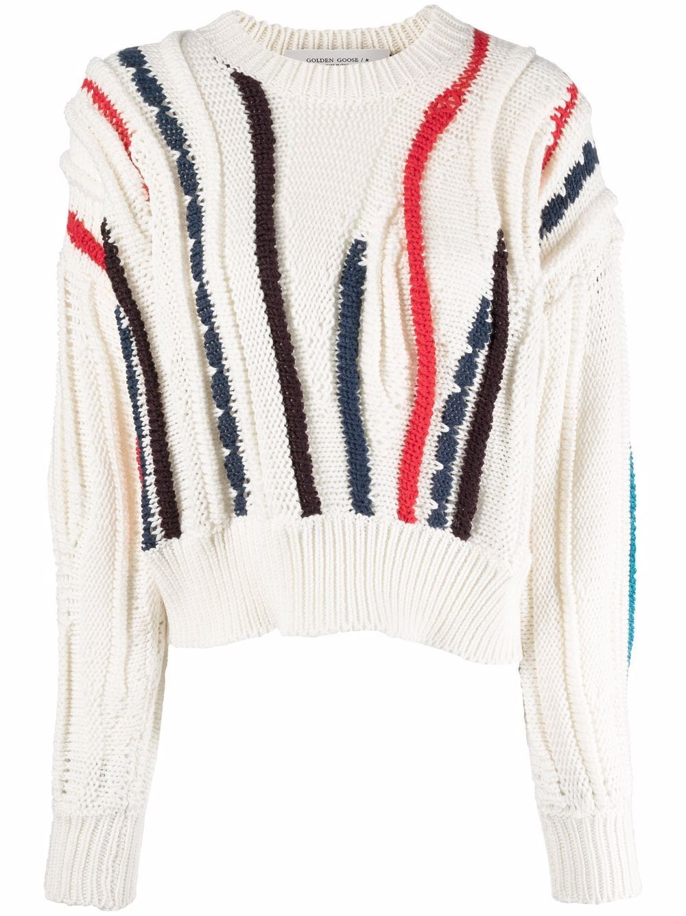 Picture of Golden Goose Deluxe Brand | Stripe-Pattern Wool Jumper