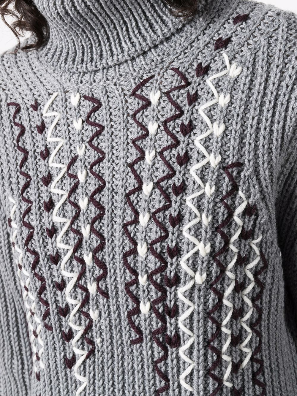 Picture of Golden Goose Deluxe Brand   Stitch-Detail Roll Neck Jumper