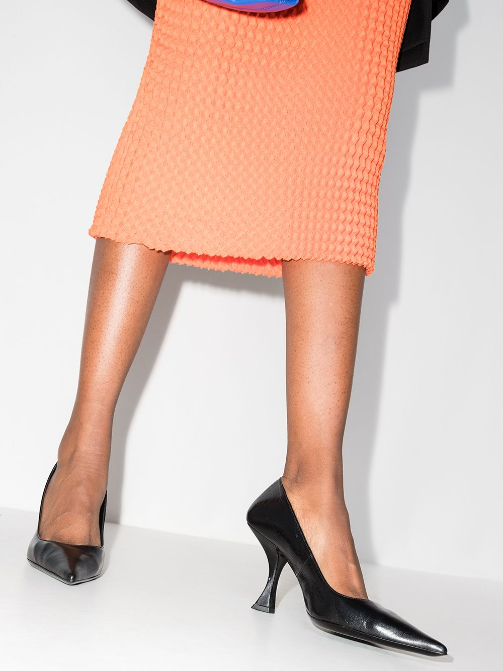 Picture of By Far | Viva Disco Leather Pumps
