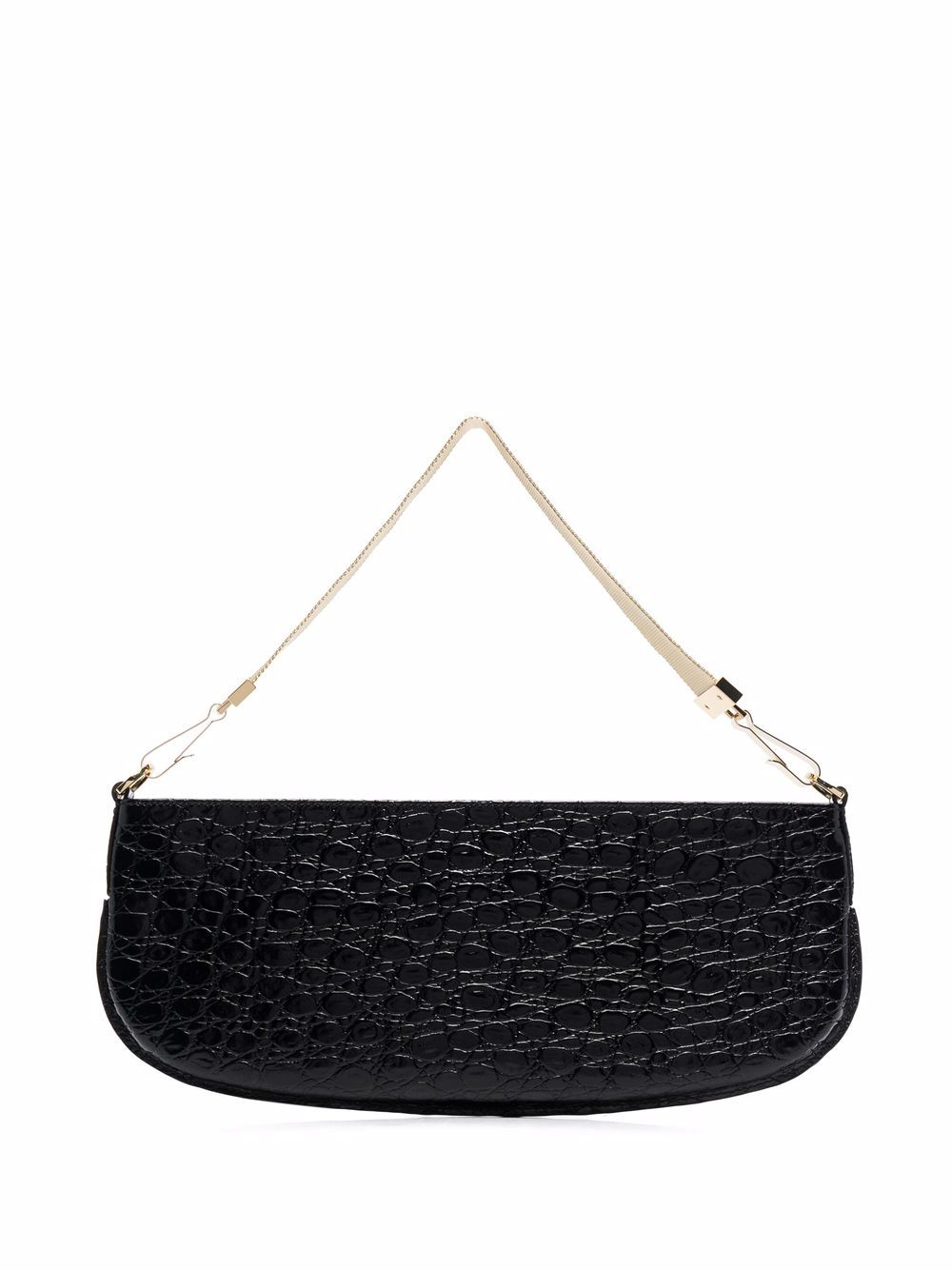 Picture of By Far   Crocodile-Effect Shoulder Bag