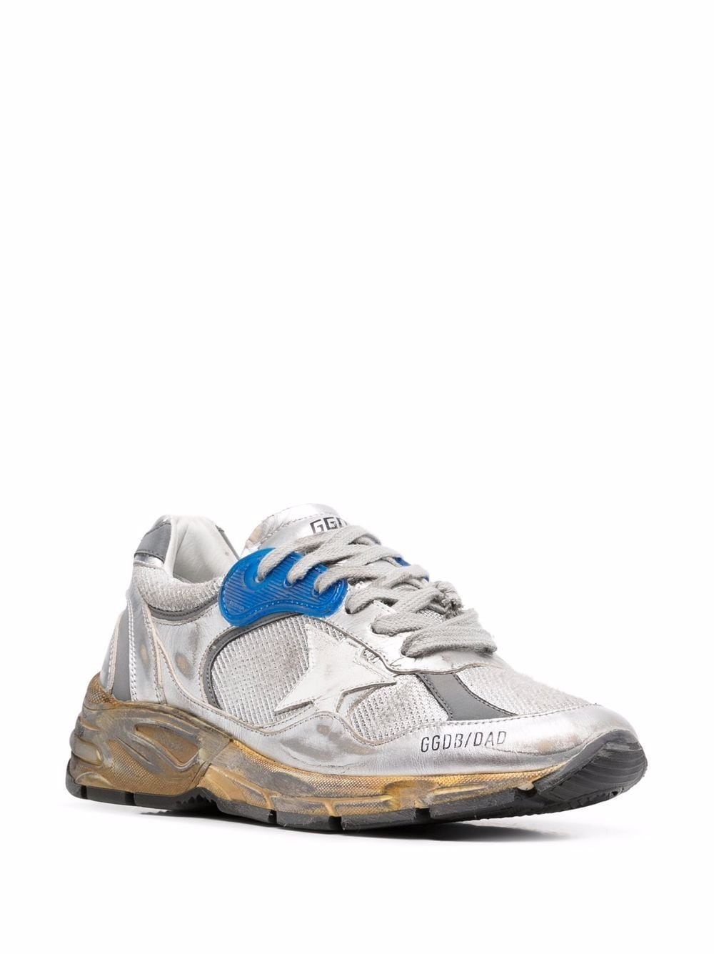 Picture of Golden Goose Deluxe Brand | Running Sole Distressed-Effect Sneakers