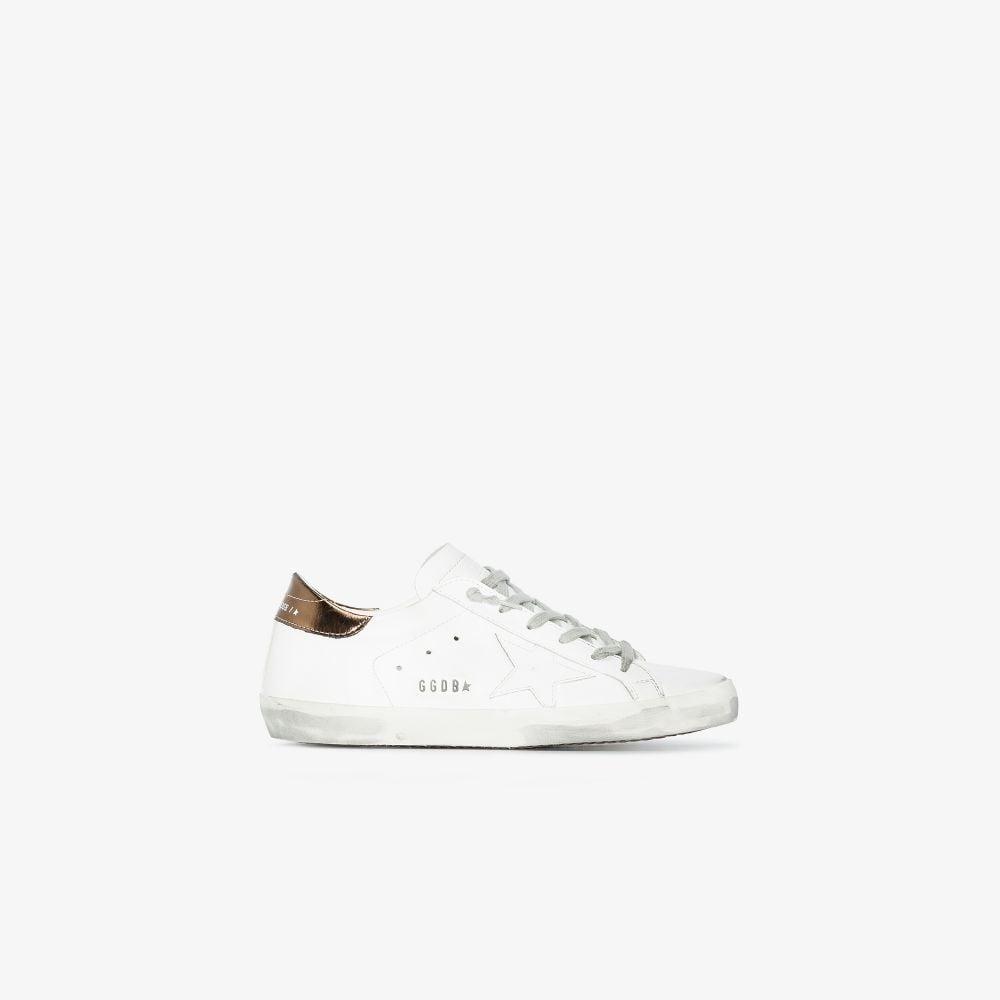 Picture of Golden Goose Deluxe Brand   Super-Star Low-Top Sneakers