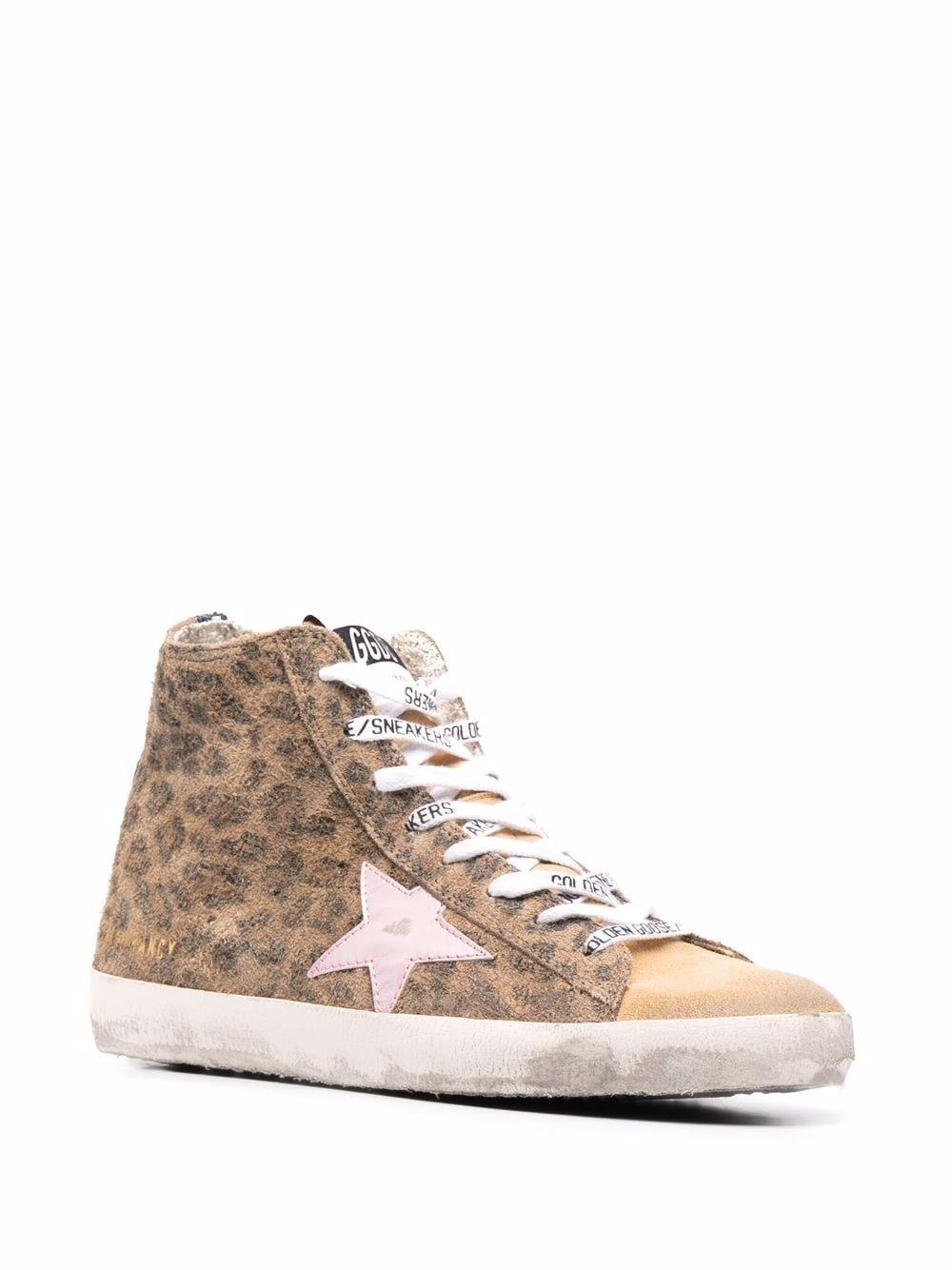 Picture of Golden Goose Deluxe Brand | Francy Leopard-Print Sneakers