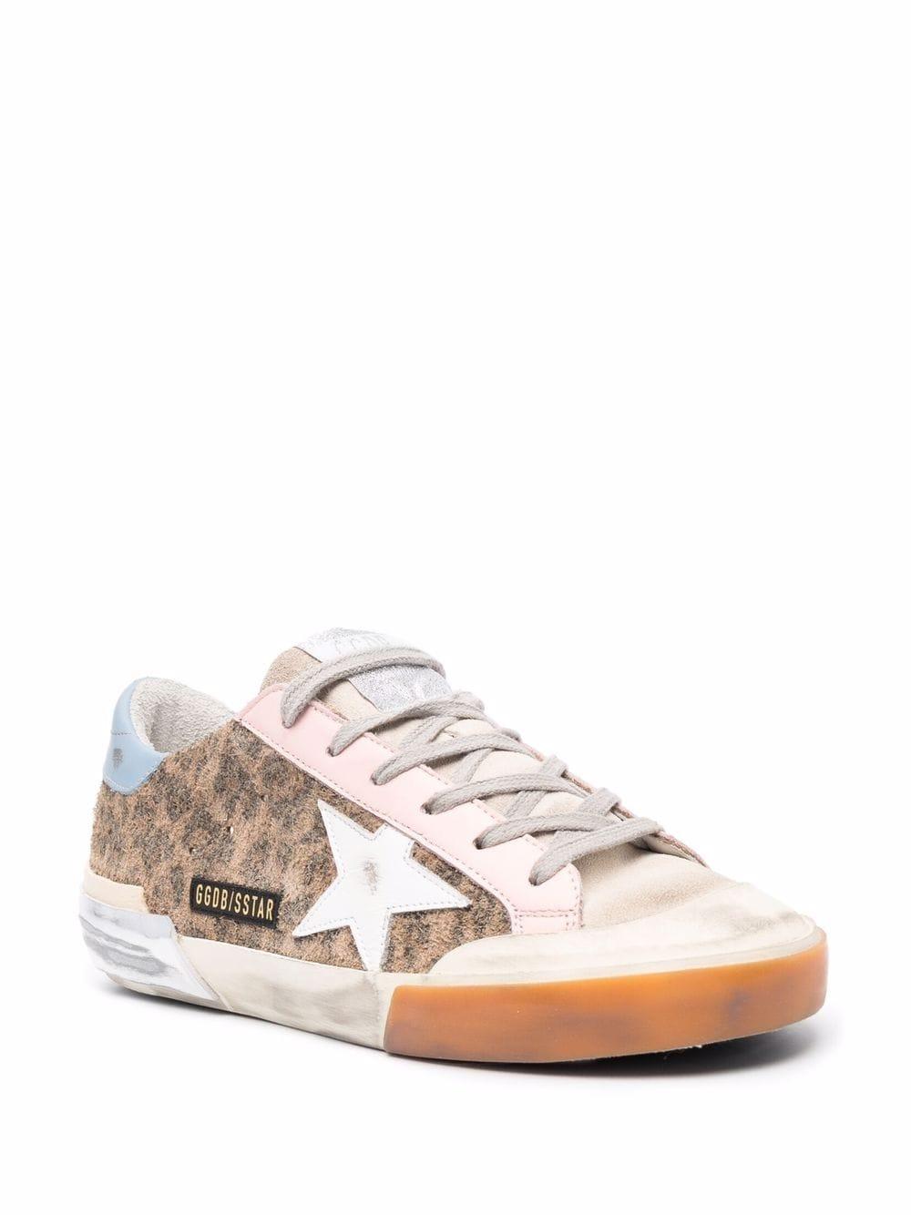 Picture of Golden Goose Deluxe Brand   Leopard-Print Super-Star Sneakers