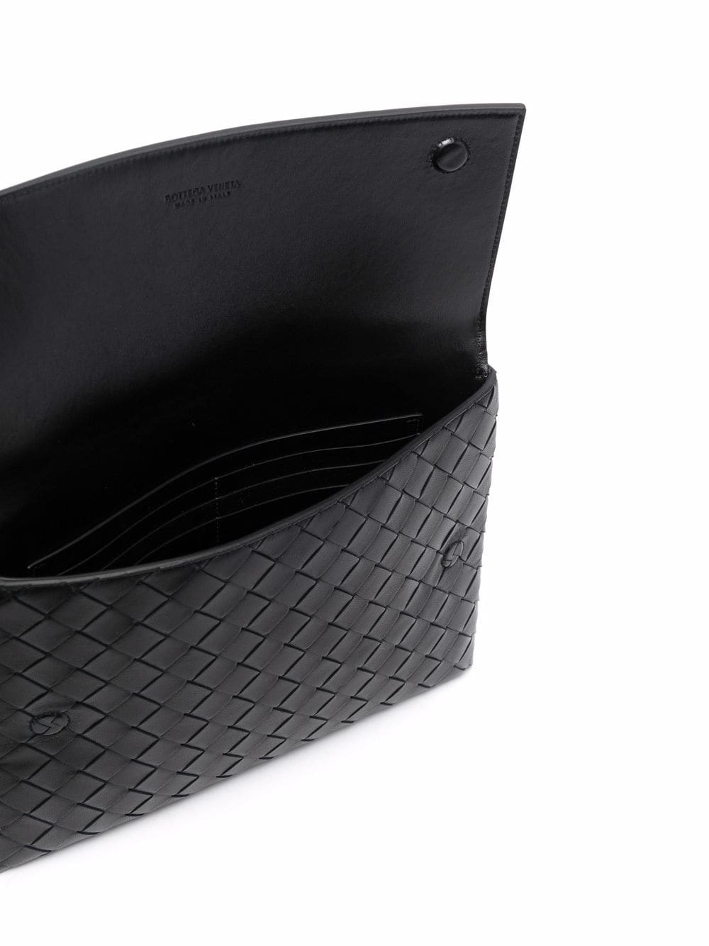 Picture of Bottega Veneta | Interwoven-Design Clutch Bag