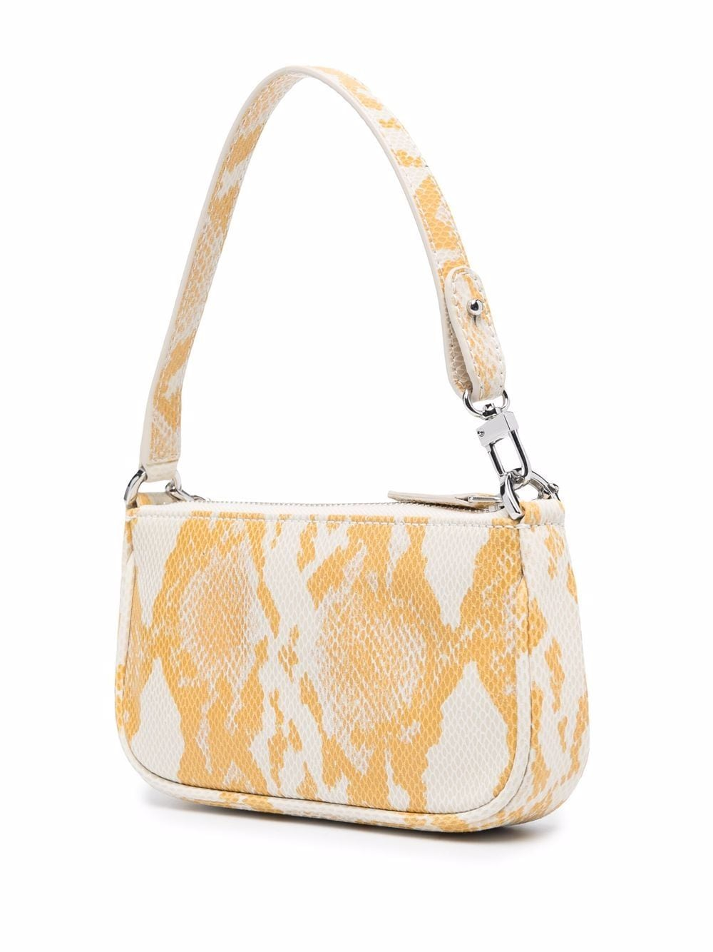 Picture of By Far | Snakeskin-Print Tote Bag