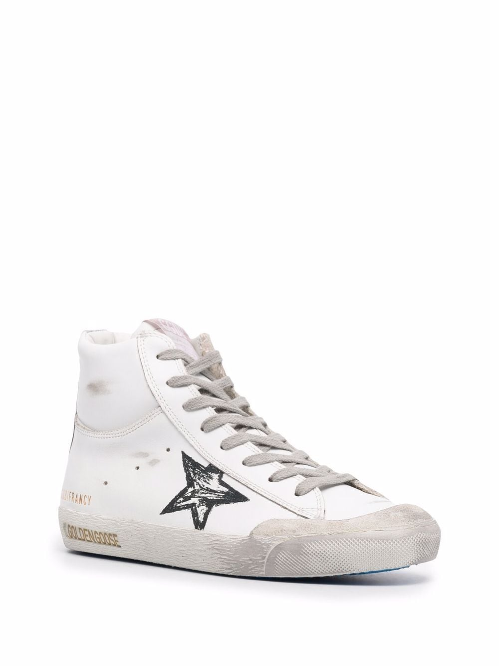 Picture of Golden Goose Deluxe Brand   Star-Patch Lace-Up Sneakers