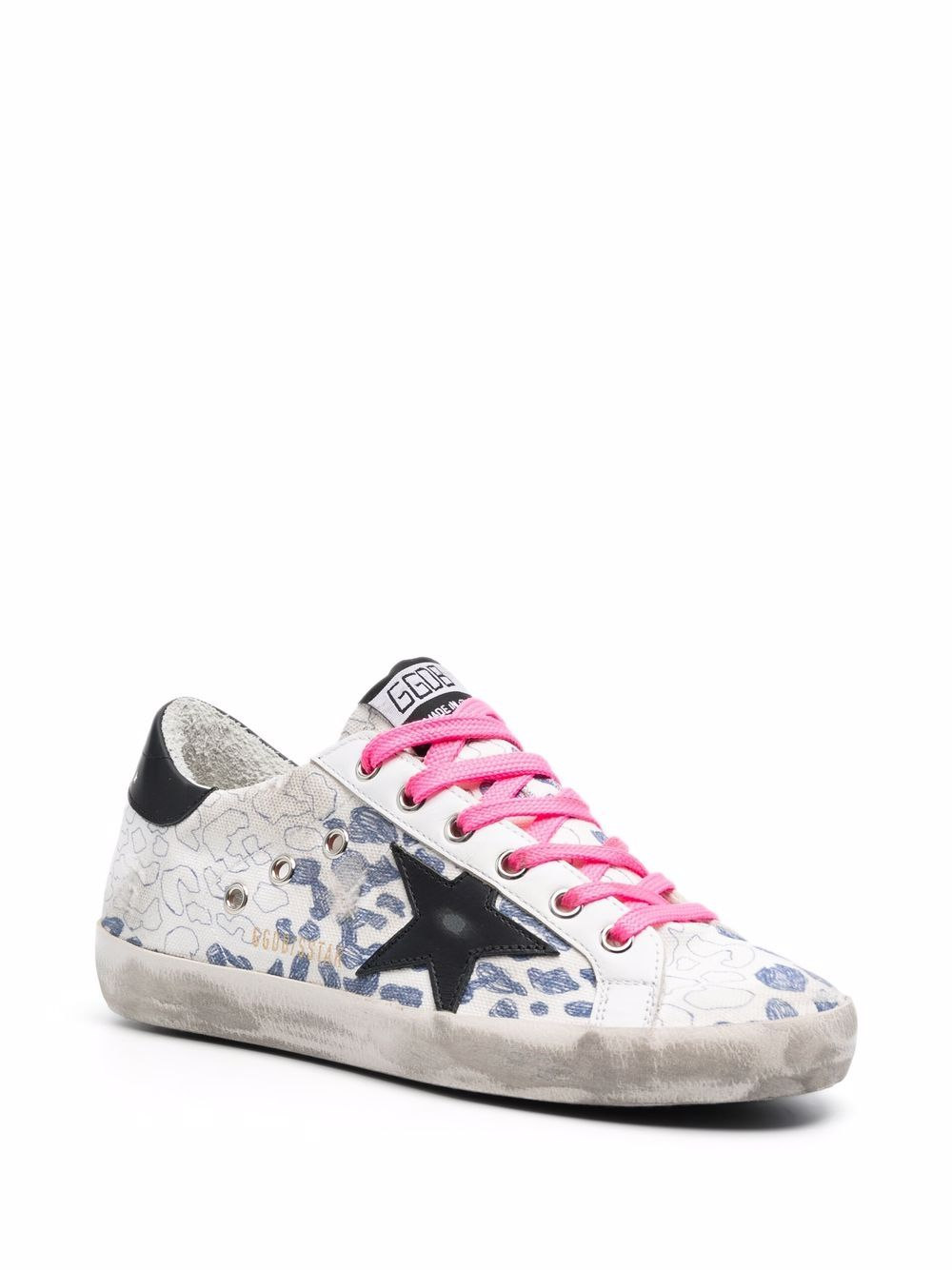 Picture of Golden Goose Deluxe Brand   Super-Star Leopard-Print Sneakers