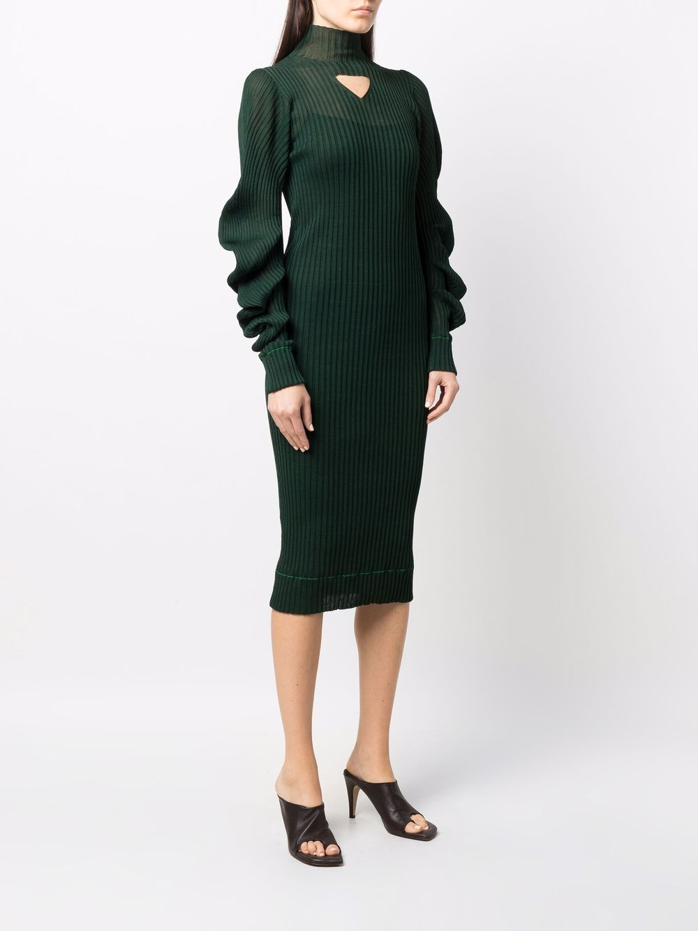 Picture of Bottega Veneta   Cutout Ribbed Dress