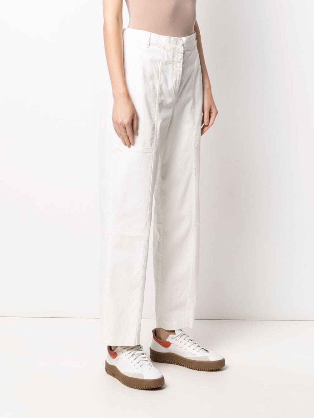Picture of Aspesi | Straight-Leg Cotton Trousers
