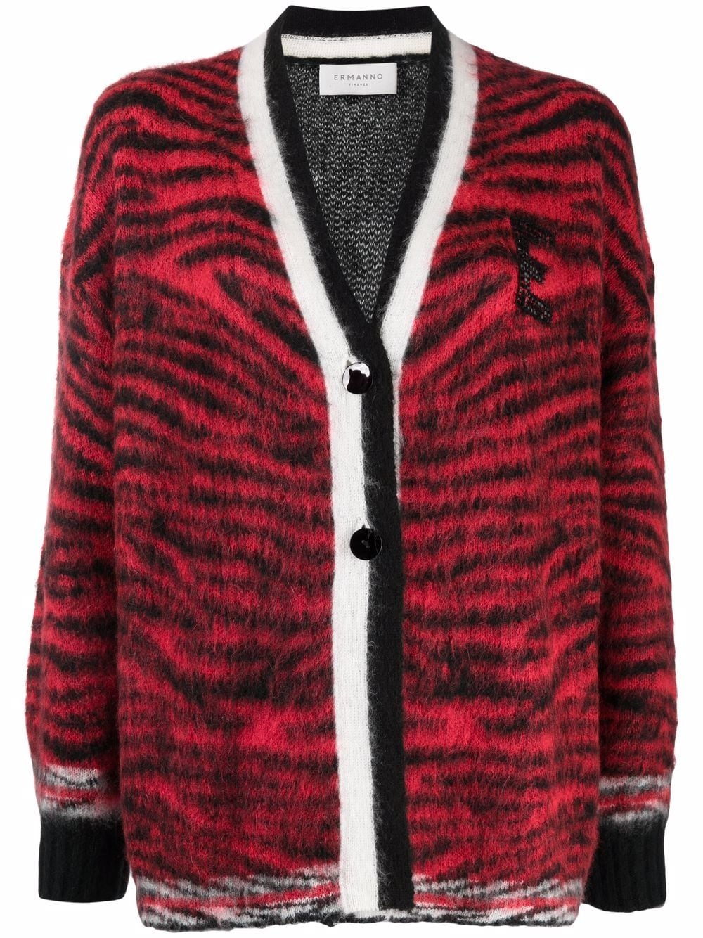 Picture of Enfold   Animal Print Cardigan
