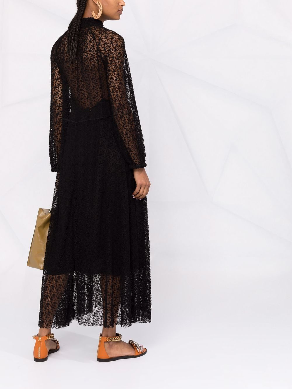 Picture of Forte_Forte | Embroidered Semi-Sheer Dress