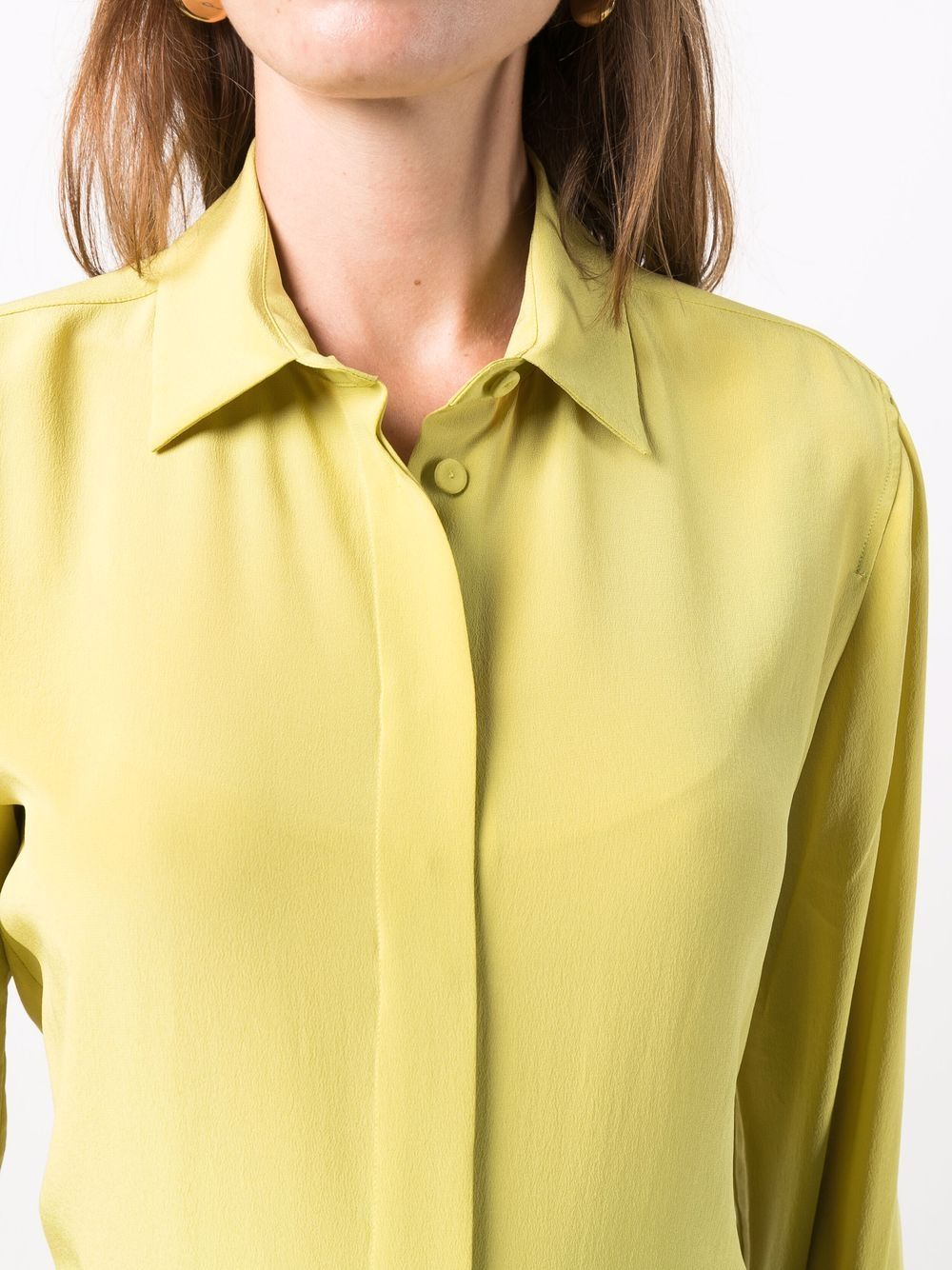 Picture of Aspesi   Long-Sleeve Silk Blouse