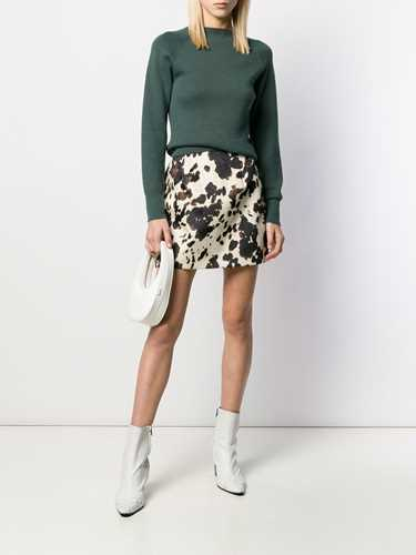 Picture of Alexa Chung | Cow Print Fitted Skirt